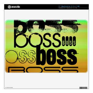 Boss; Vibrant Green, Orange, & Yellow Decal For MacBook