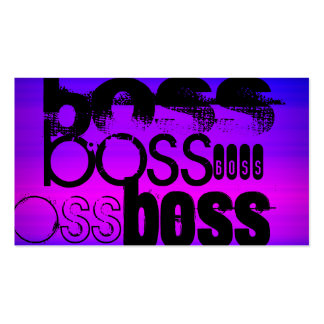 Boss; Vibrant Violet Blue and Magenta Double-Sided Standard Business Cards (Pack Of 100)