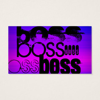 Boss; Vibrant Violet Blue and Magenta Business Card