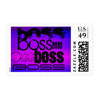 Boss; Vibrant Violet Blue and Magenta Postage