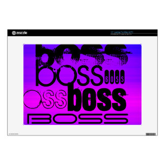"Boss; Vibrant Violet Blue and Magenta 15"" Laptop Skin"