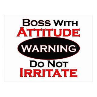 Boss With Attitude Postcard
