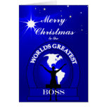 Boss Worlds Greatest Christmas Greeting Greeting Card