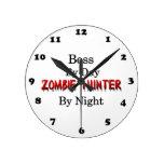 Boss/Zombie Hunter Round Wallclocks