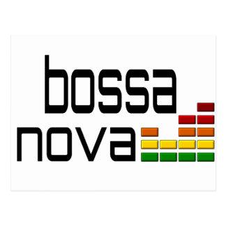 Bossa Nova Music with Stereo Equalizer Postcard