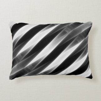 """Bossa Nova"" Style 2 Grey Glow Accent Pillow"