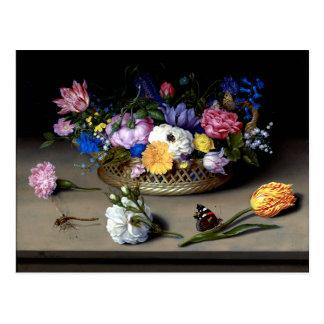 Bosschaert Flower Still Life Insects Dutch Art Postcard
