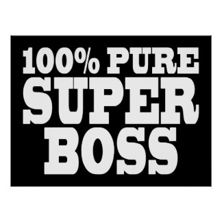 Bosses Birthday Parties : 100% Pure Super Boss Posters