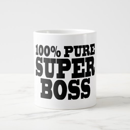 Bosses Birthday Parties : 100% Pure Super Boss Extra Large Mugs