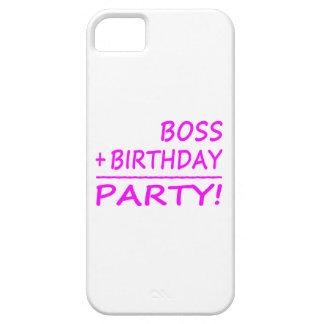Bosses Birthdays : Boss + Birthday = Party iPhone SE/5/5s Case