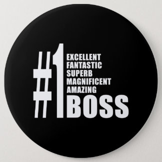 Bosses Birthdays Gifts : Number One Boss Button