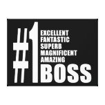 Bosses Birthdays Gifts : Number One Boss Canvas Prints