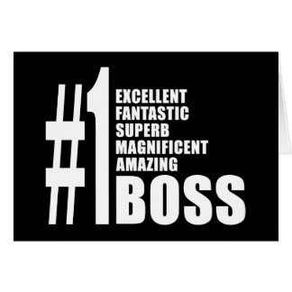 Bosses Birthdays Gifts : Number One Boss Card