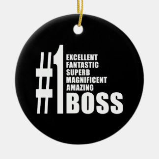 Bosses Birthdays Gifts : Number One Boss Ceramic Ornament