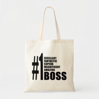 Bosses Birthdays Gifts : Number One Boss Tote Bag