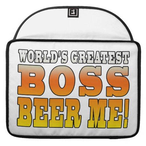 Bosses Office Parties Worlds Greatest Boss Beer Me MacBook Pro Sleeve