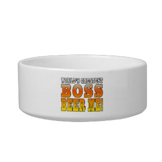 Bosses Office Parties Worlds Greatest Boss Beer Me Pet Food Bowl