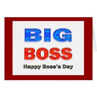 Boss's Day Big Boss Card