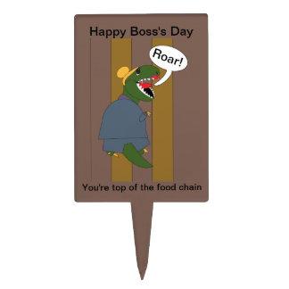 Boss's Day T-Rex Dinosaur (Female) Cake Topper