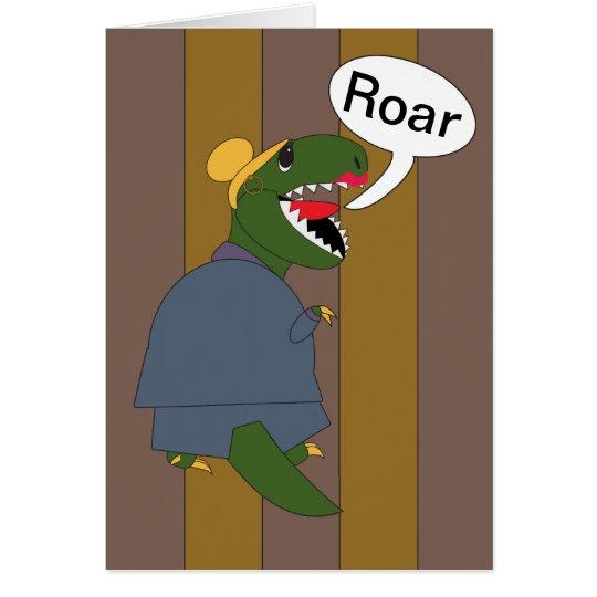 Boss's Day T-Rex Dinosaur (Female) Card