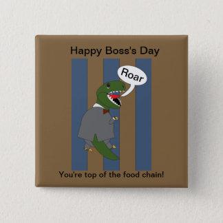 Boss's Day T-Rex Dinosaur (Male) Button