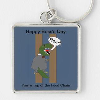 Boss's Day T-Rex Dinosaur (Male) Keychain
