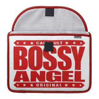BOSSY ANGEL - Warning: I'm Loveable Until Provoked Sleeves For MacBooks