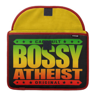 BOSSY ATHEIST - I Dominate Discussions With Reason Sleeve For MacBooks