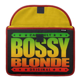 BOSSY BLONDE - Dominant Hot Blondes Rule The World MacBook Pro Sleeve