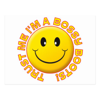 Bossy Boots Trust Me Smile Postcard