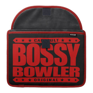 BOSSY BOWLER - Winners Always Aim For Perfect Game Sleeve For MacBook Pro