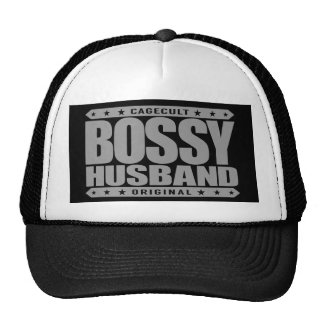 BOSSY HUSBAND - Man Cave Dweller and Beer Drinker Trucker Hat