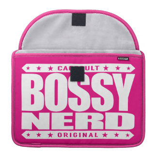 BOSSY NERD - I Dominate With Intellectual Powers MacBook Pro Sleeve