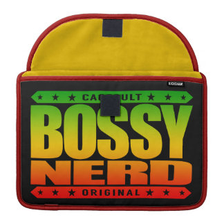 BOSSY NERD - I Dominate With Intellectual Powers Sleeve For MacBooks
