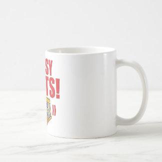 Bossy Pants Flowery Classic White Coffee Mug