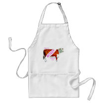 Bossy Proud Of It Cow Adult Apron