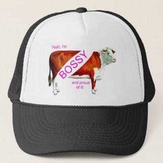 Bossy Proud Of It Cow Trucker Hat