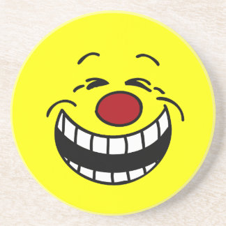 Bossy Smiley Face Grumpey Coaster