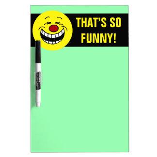 Bossy Smiley Face Grumpey Dry-Erase Board