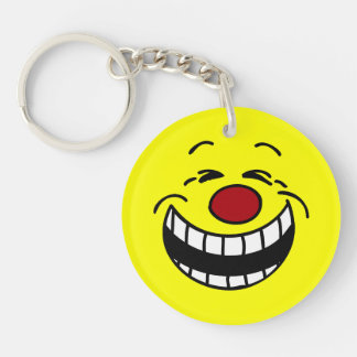Bossy Smiley Face Grumpey Keychain