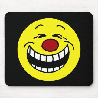 Bossy Smiley Face Grumpey Mouse Pad