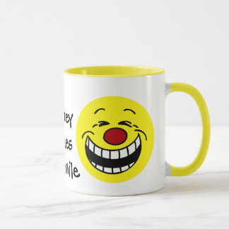 Bossy Smiley Face Grumpey Mug