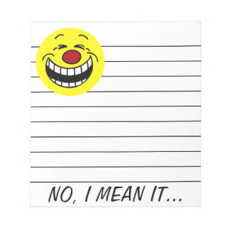 Bossy Smiley Face Grumpey Notepad