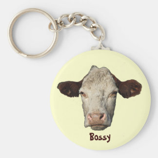 Bossy the Cow Keychain