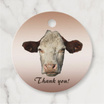 Bossy the Cow Thank You Animal Favor Tags