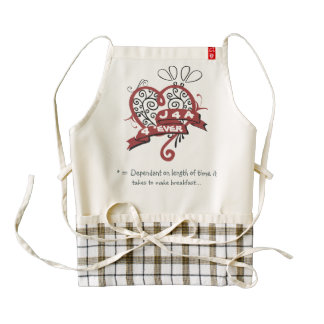 Bossy Valentine - 4 EVER Zazzle HEART Apron