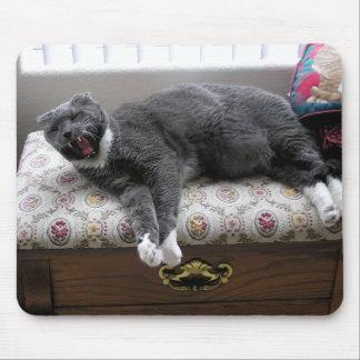 ¡Bostezo del gato! Alfombrilla De Ratones