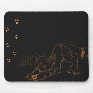 Bostezo salvaje Mousepad de Kaeko Alfombrillas De Ratones