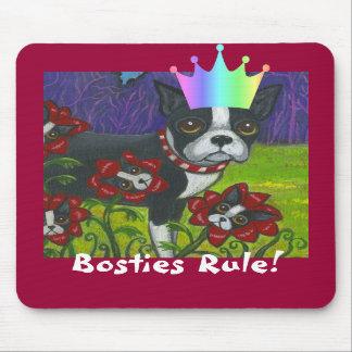 Bosties Rule! Boston Terrier Mousepad