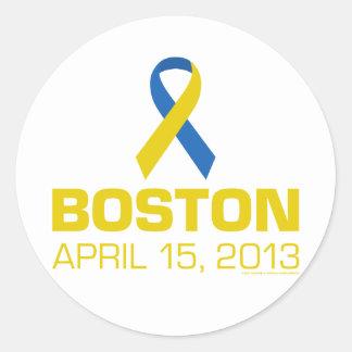 BOSTON 04/15/2013 CLASSIC ROUND STICKER
